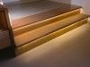 Badmöbel und Stufen in Kirschbaum teilmassiv